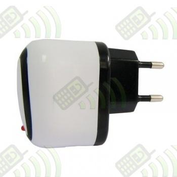 Adaptador USB a enchufe Blanco 1000mAh