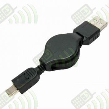 Cable Adaptador mini USB enrollable