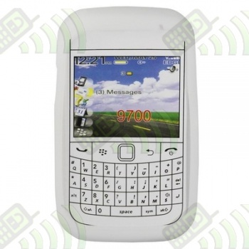 Funda Silicona BB 9700/9780 Blanca Semitransparente