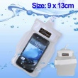 Funda Impermeable movil camara mp3 consola 9 x 13 cm Blanca