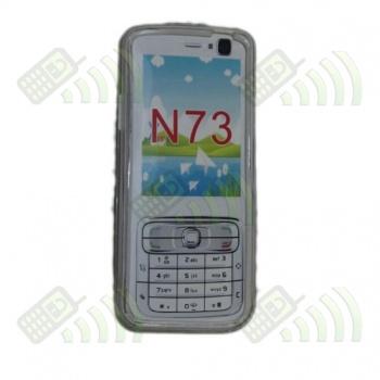 Funda Gel Nokia N73 Transparente Diamond