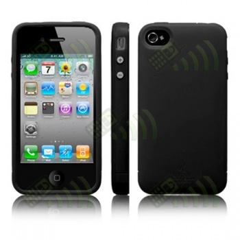 Funda Silicona SGP Iphone 4G Negra + Protector