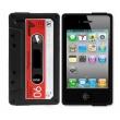 Funda Silicona Iphone 4 Cassette Negra