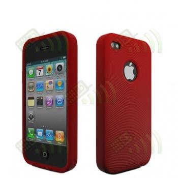 Funda Silicona Iphone 4 Roja
