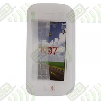 Funda Silicona Nokia N97 Semitransparente