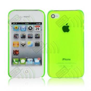 Carcasa trasera Iphone 4G Verde Semitransparente