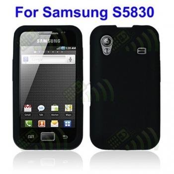Funda Silicona Samsung Galaxy Ace S5830 Negra