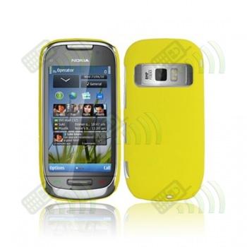 Carcasa trasera Nokia C7 Amarilla