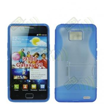 Funda Silicona Gel / Rígida Samsung Galaxy S2 i9100 Azul
